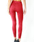 Mesh Seamless Legging with Ribbing Detail - Red