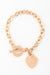 Kanika Heart & Cross Bracelet - Rose Gold