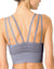 Mesh Seamless Bra with Cutouts - Grey Purple