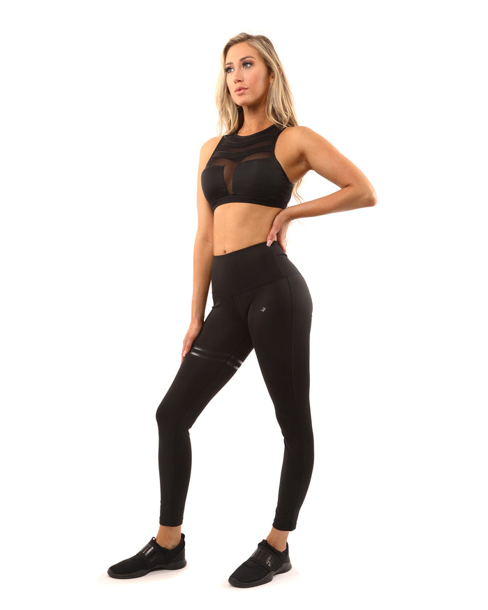 Load image into Gallery viewer, Laguna Sports Bra - Black - Savoy Active