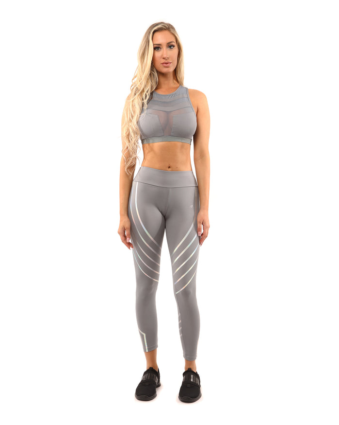 Load image into Gallery viewer, Laguna Set - Leggings & Sports Bra - Grey - Savoy Active