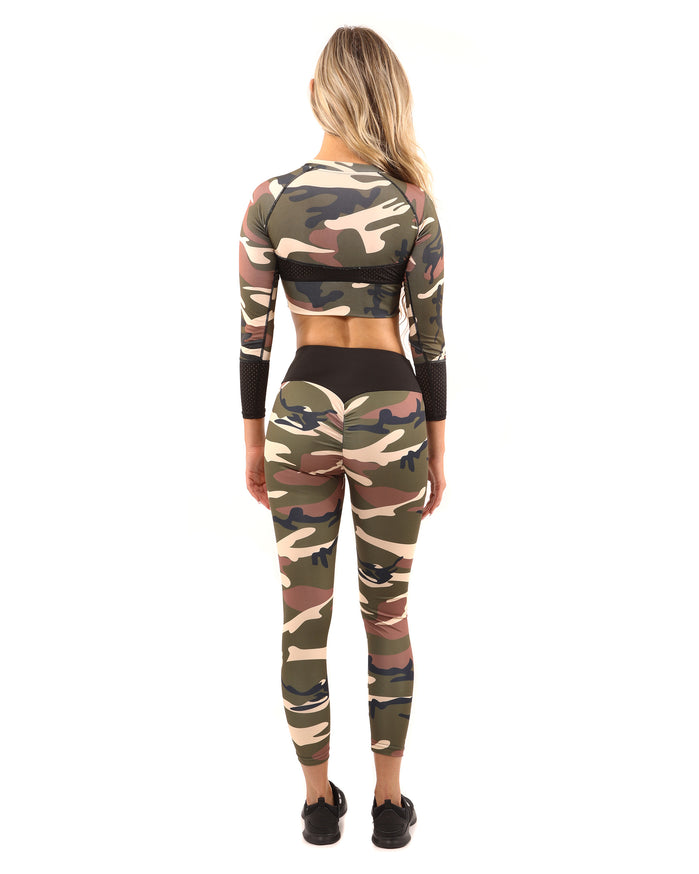 Load image into Gallery viewer, Virginia Camouflage Sports Top - Brown/Green - Savoy Active