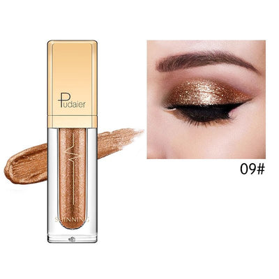 Pudaier Glitter & Glow Liquid Eyeshadow - Color # 09 Copper