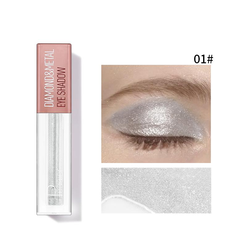 Pudaier Diamond Shimmer & Glow Liquid Eyeshadow | Matte Finished - Color #01 Silver