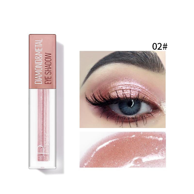 Pudaier Diamond Shimmer & Glow Liquid Eyeshadow | Matte Finished - Color #02 Pink