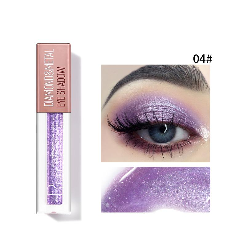 Pudaier Diamond Shimmer & Glow Liquid Eyeshadow | Matte Finished - Color #04 Purple
