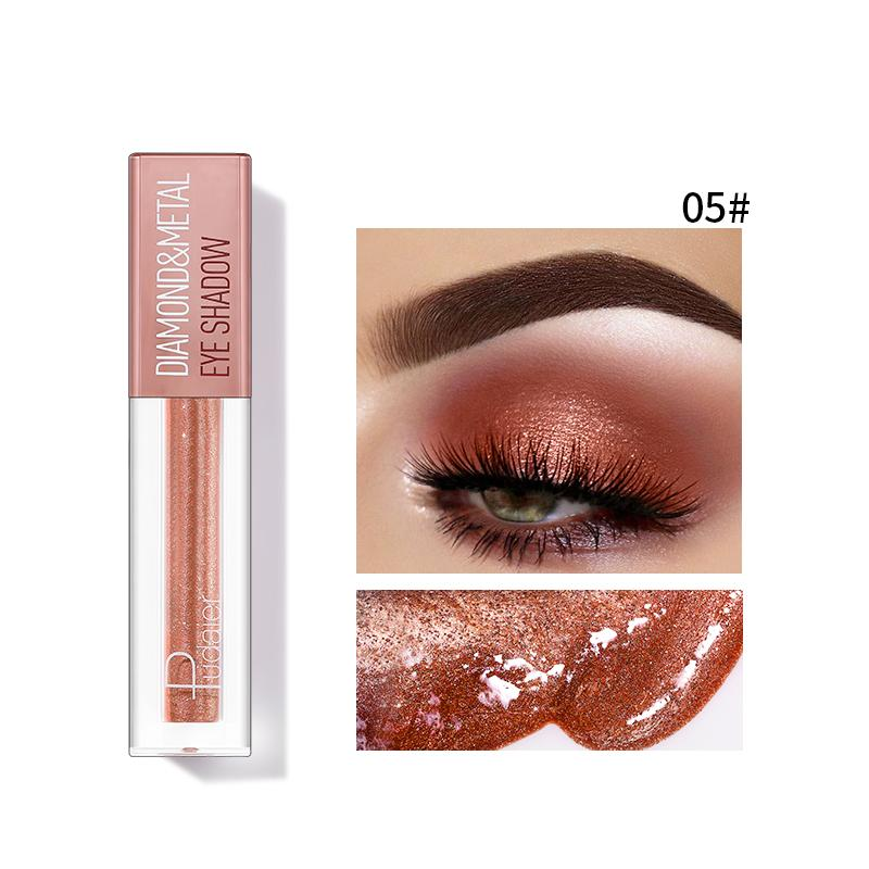 Pudaier Diamond Shimmer & Glow Liquid Eyeshadow | Matte Finished - Color #05 Copper