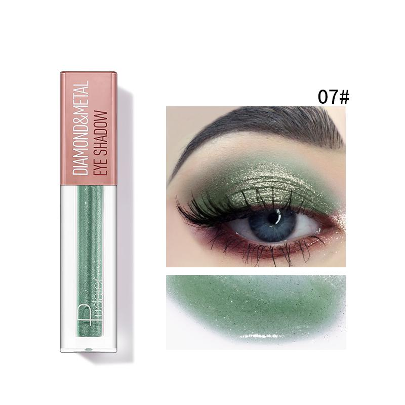 Pudaier Diamond Shimmer & Glow Liquid Eyeshadow | Matte Finished - Color #07 Green