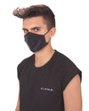 CHIC BREATHABLE INDIVIDUALLY WRAPPED SILK FACE MASK IN BLACK