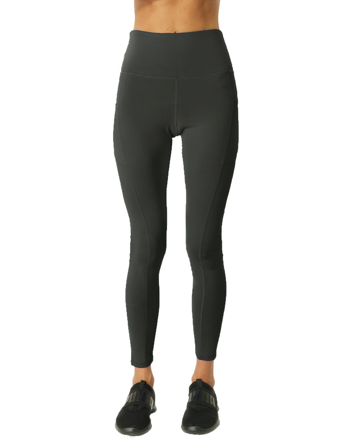 Load image into Gallery viewer, High Waisted Yoga Leggings - Slate Grey - Savoy Active