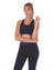 Trois Seamless Sports Bra - Black with Navy