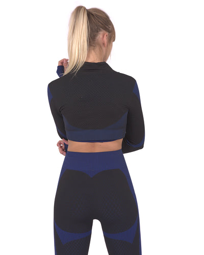 Trois Seamless Sports Jacket - Black with Navy