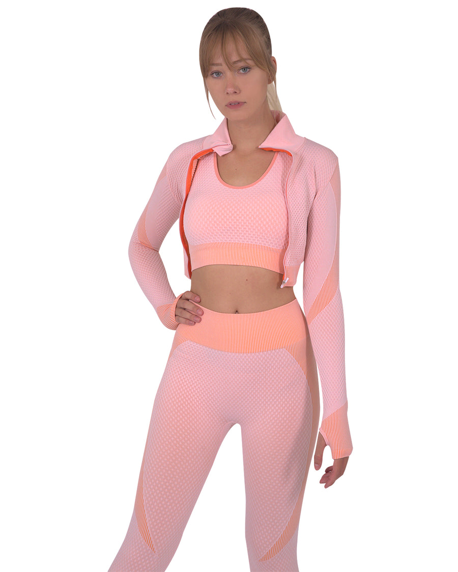 Trois Seamless Sports Jacket - Pink