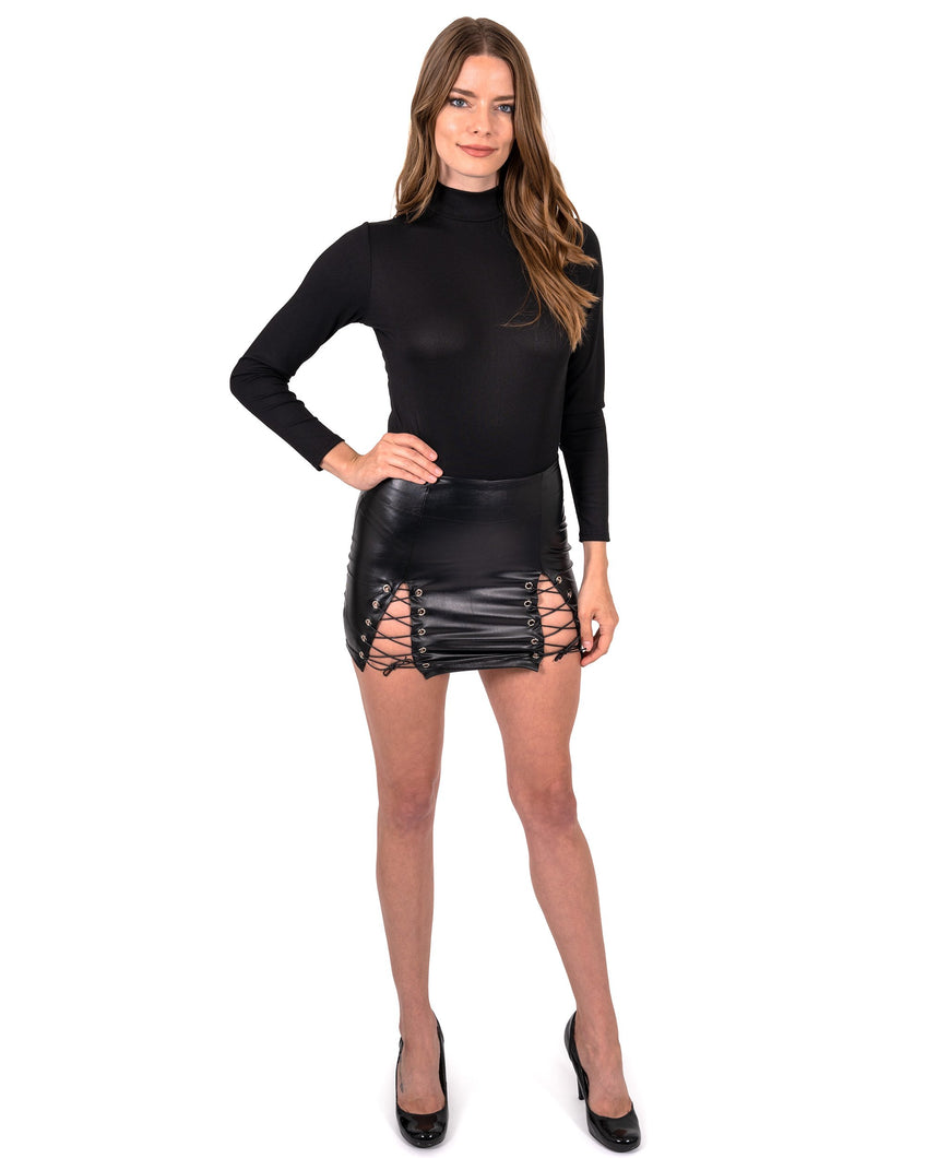 Laurel Lace-Up Mini Skirt
