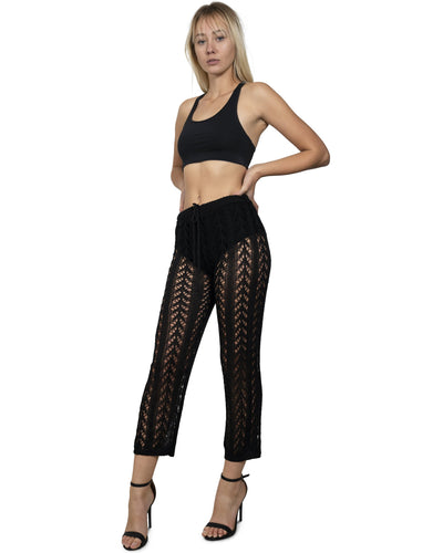 Kimridge Crochet Pant - Black