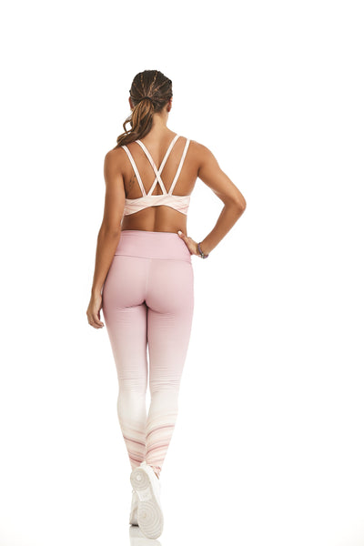 VELOZES OMBRE PRINT COMPRESSION LEGGINGS