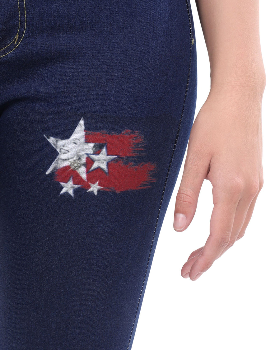 Walden Skinny Jeans With Marilyn Monroe Red Star Decal