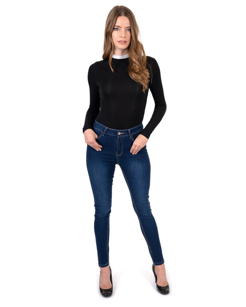 Alexis High Waisted Skinny Jeans -Womens skinny sexy jean distressed denim pants