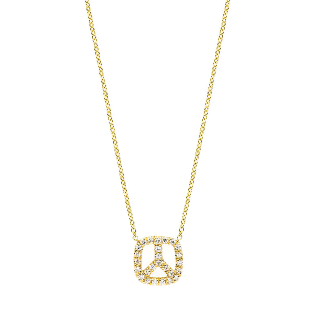 Peace with diamondS Necklace