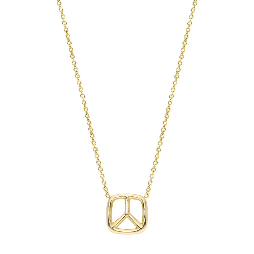 Peace Necklace 14K YG 16