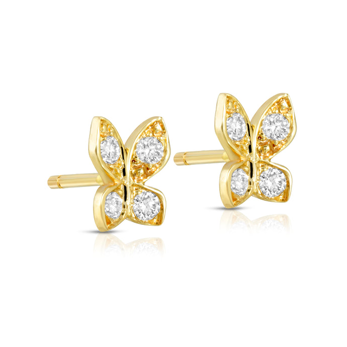The Small Butterfly earrings-Diamonds