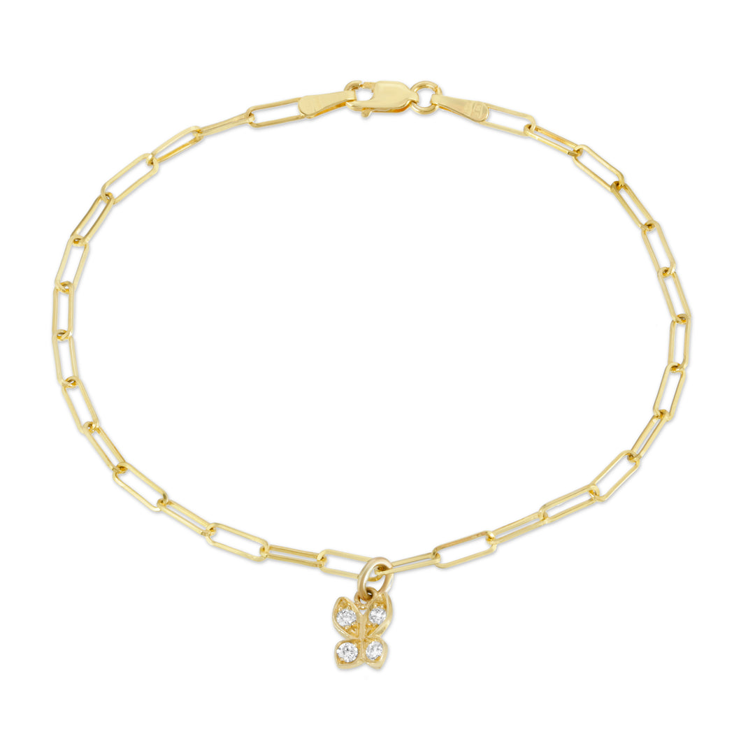 "Small ""Butterfly"" Bracelet -WITH Diamonds-Website Exclusive"
