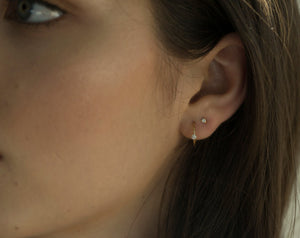 Sparkling Hoops | Hortense Jewelry - handmade artisan earrings, handmade designer earrings, ethically made gold earrings