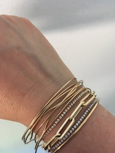 The Mama Link bracelet 14K Yellow Gold | Hortense Jewelry - custom handmade bracelets, beautiful handmade bracelets, handmade bracelets and necklaces