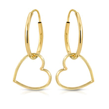 Load image into Gallery viewer, Sweetheart Hoops earrings