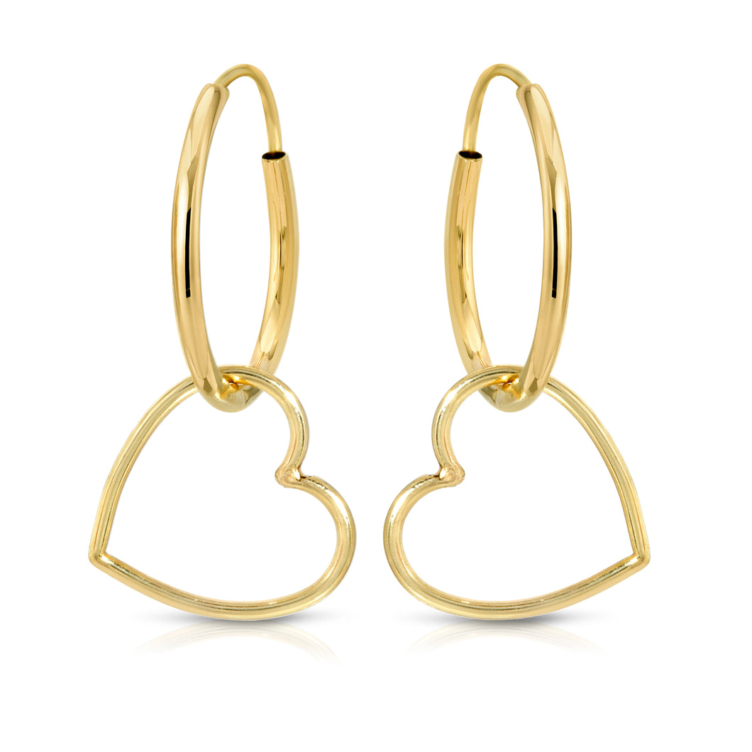 Sweetheart Hoops earrings