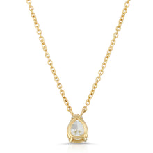 Load image into Gallery viewer, The Pear Shaped diamond necklaces-2 sizes