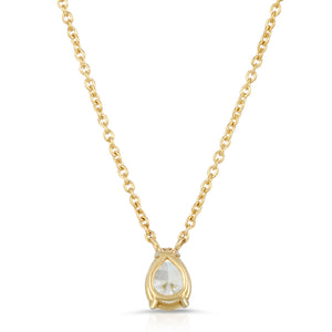 The Pear Shaped diamond necklaces-2 sizes