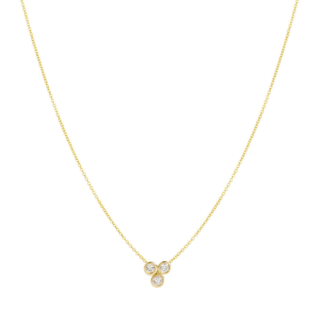 Clover necklace 14K YG 16
