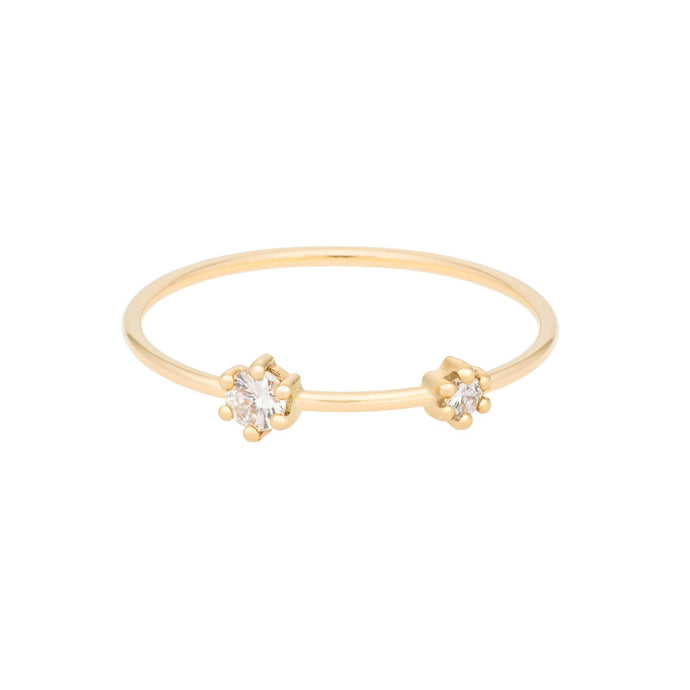 """Darling"" All Diamonds ring 14YG SIZE 4.5 