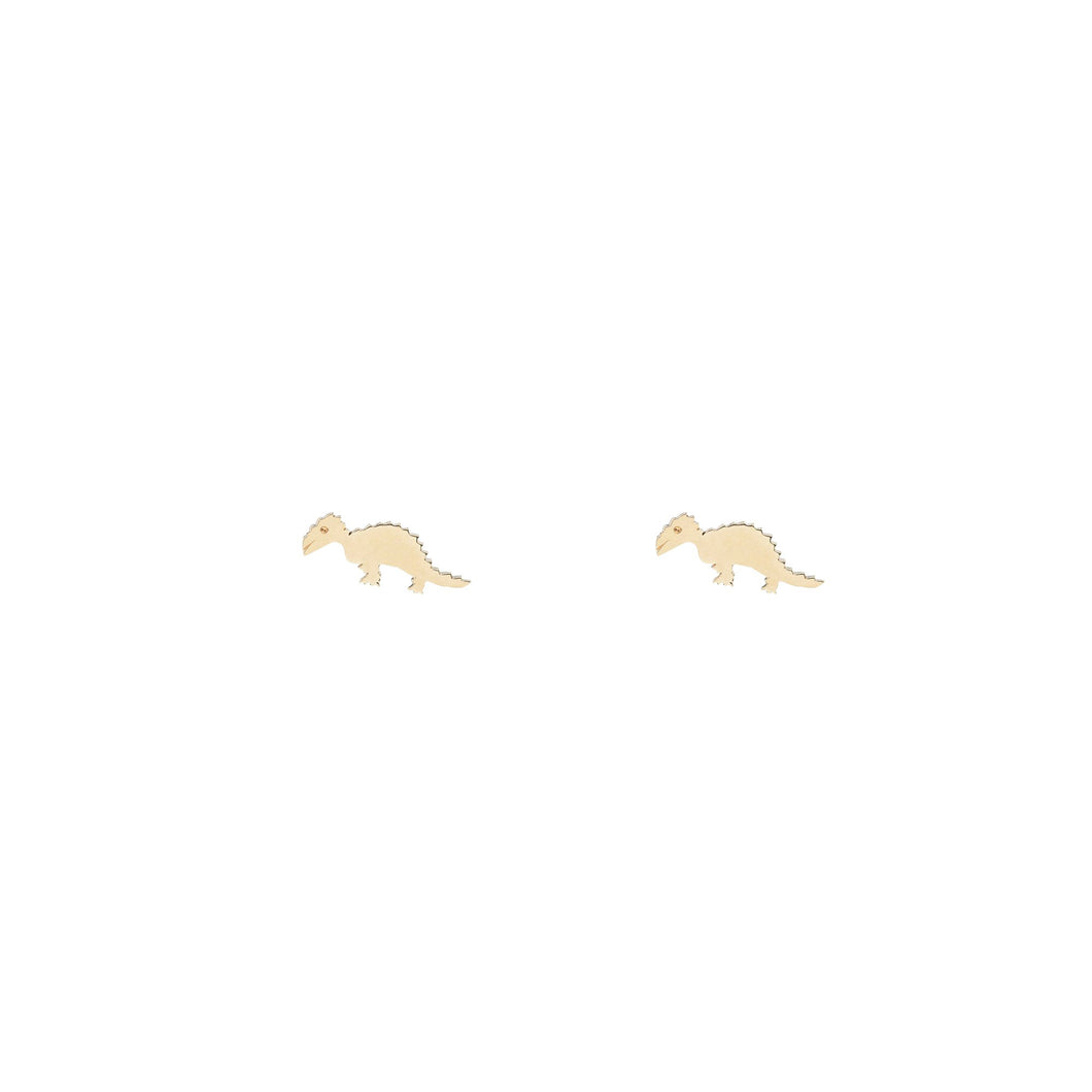 The Dinosaure earrings Single 14KYG | Hortense Jewelry - 14k yellow gold diamond earrings, round diamond earrings white gold, pure gold designer earrings