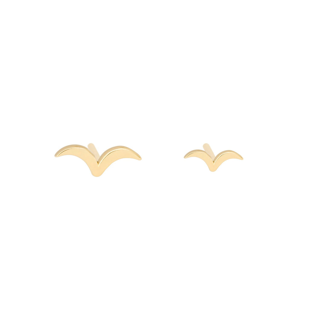"""Flying Together"" -Earring 14KYG PAIR 