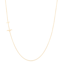 "Load image into Gallery viewer, ""Flying Together""-Necklace 14KYG 16"" 