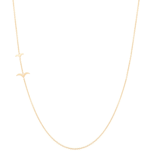 """Flying Together""-Necklace 14KYG 16"" 