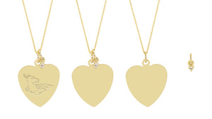 The Big Heart necklace-Customizable-with or without diamond