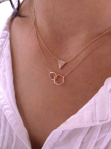 Together-Hexagon | Hortense Jewelry - affordable designer necklaces, handcrafted ethical necklaces, exquisite gold necklace