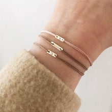 Load image into Gallery viewer, The ID Cord Bracelet Long and Short | Hortense Jewelry - custom handmade bracelet, 14k gold designer bracelets, handcrafted ethical bracelets
