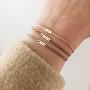 The ID Cord Bracelet Long and Short | Hortense Jewelry - custom handmade bracelet, 14k gold designer bracelets, handcrafted ethical bracelets