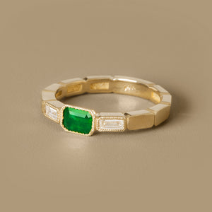 The Eternity Ring-Emerald+Diamonds | Hortense Jewelry - ethically sourced wedding rings, conflict free wedding rings, ethically sourced wedding bands, conflict free wedding bands