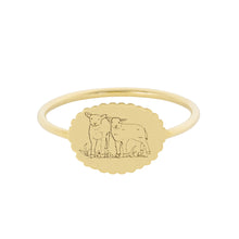 Load image into Gallery viewer, The Bubble Signet Ring-Deer or Lambs