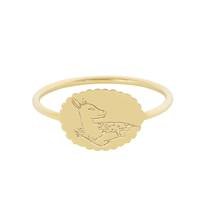 The Bubble Signet Ring-Deer or Lambs | Hortense Jewelry - ethical diamond rings, delicate designer rings, designer gold rings