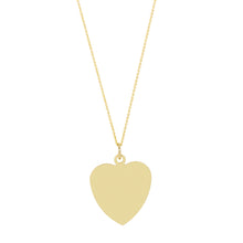 Load image into Gallery viewer, The Big Heart necklace-Customizable-with or without diamond | Hortense Jewelry - beautiful handcrafted necklaces, unique handmade necklaces, handcrafted necklaces and pendants