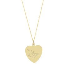 Load image into Gallery viewer, The Big Heart Deer Necklace with or without diamond | Hortense Jewelry - affordable designer necklaces, handcrafted ethical necklaces, exquisite gold necklace