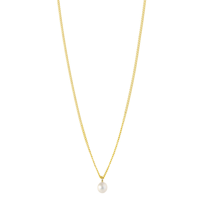 The Mini-Mini Me Pearl Necklace | Hortense Jewelry - handmade designer necklaces, designer gold necklaces, designer bridal necklaces, delicate gold necklaces
