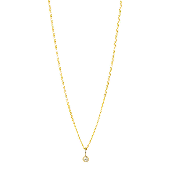 The Mini-Mini Me Diamond Necklace | Hortense Jewelry - handmade designer necklaces, designer gold necklaces, designer bridal necklaces, delicate gold necklaces