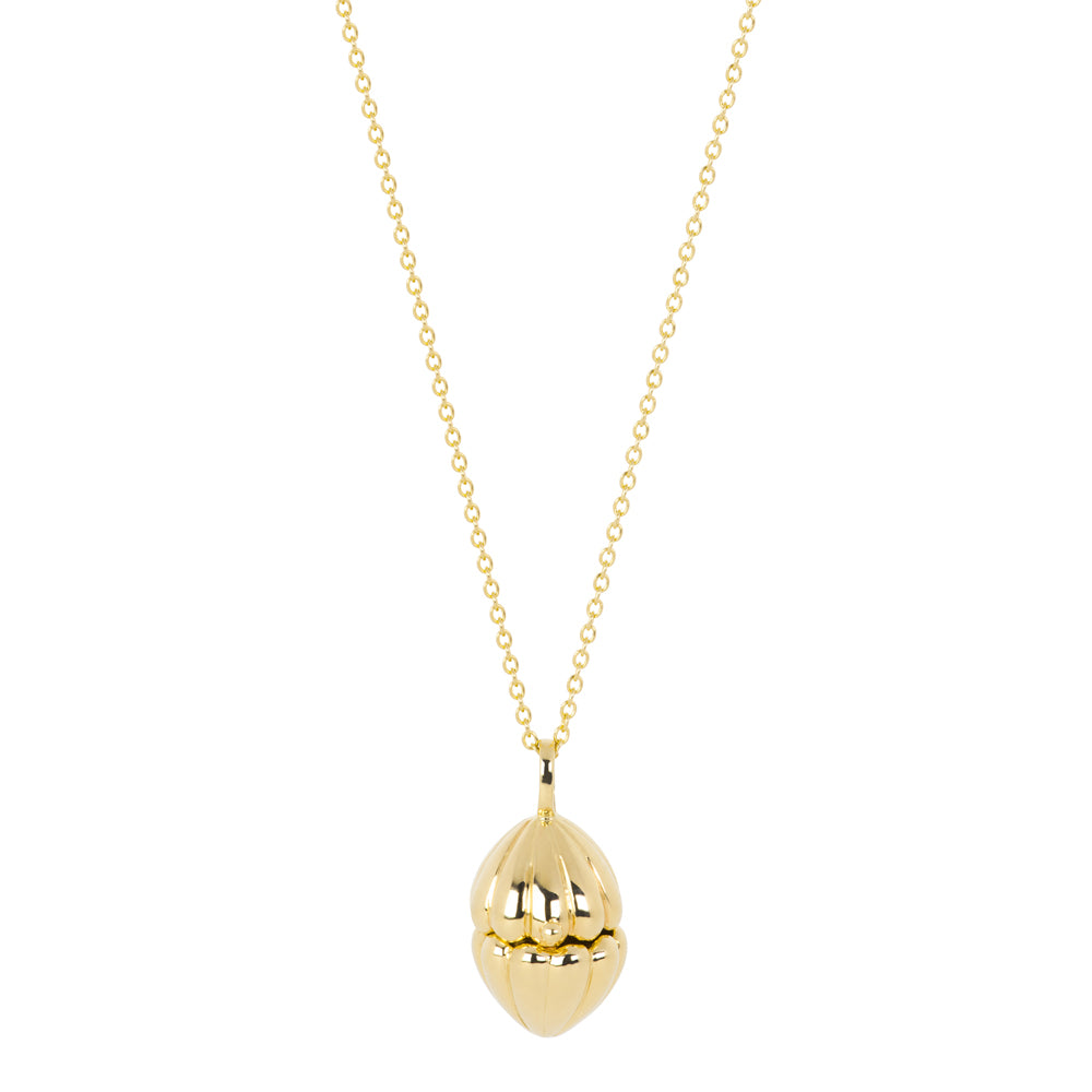 The Secret Shell box Necklace | Hortense Jewelry - 14k yellow gold diamond pendant necklace, diamond heart pendant 14k yellow gold, diamond heart necklace rose gold, white gold teardrop necklace
